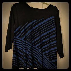 Dana Buchman  black and blue sweater